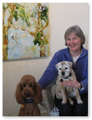 Kit Pearson with Poppy and Piper, 2007